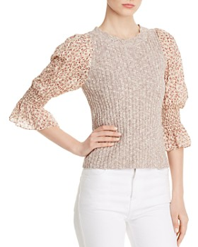 7d43bb1d2fa539 Rebecca Taylor - Francesca Layered-Look Sweater ...