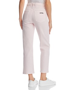 Rebecca Minkoff - Dominica High Rise Cropped Straight-Leg Jeans in Pink