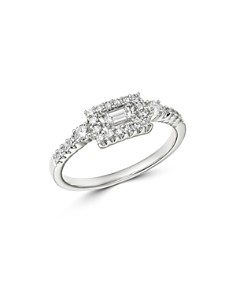 Bloomingdale's - Diamond Round & Baguette Band in 14K White Gold, 0.40 ct. t.w. - 100% Exclusive