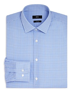 BOSS - Mini Check Regular Fit Dress Shirt