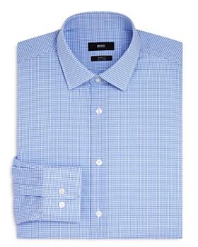 1f5524f22 BOSS - Mini Check Regular Fit Dress Shirt ...