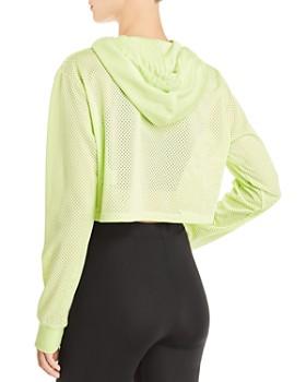 FILA - Noemi Mesh Cropped Hooded Sweatshirt
