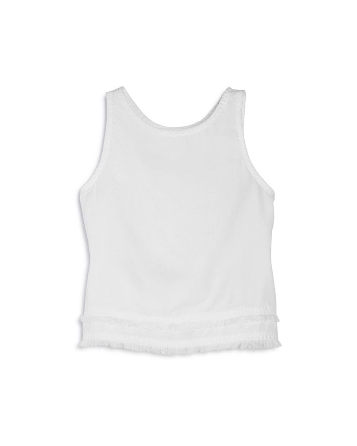 Bella Dahl - Girls' Fray Split Back Tank - Big Kid