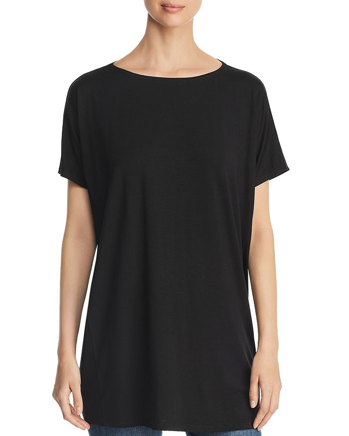 Eileen Fisher - Dolman-Sleeve Tunic Tee