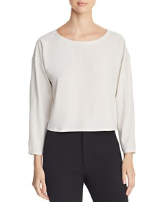 Eileen Fisher - Cropped Silk Top