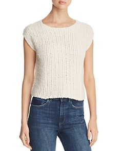Eileen Fisher - Cap-Sleeve Textured-Knit Top