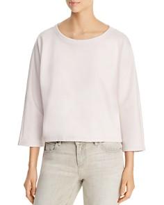 Eileen Fisher - Organic Cotton Cropped Sweatshirt