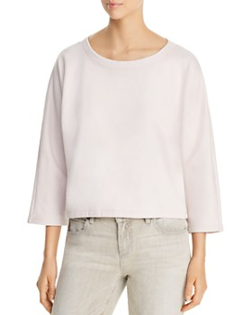 Eileen Fisher - Organic Cotton Cropped Sweatshirt