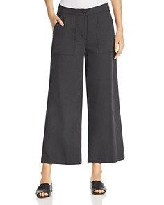 Eileen Fisher - Organic Cotton Cropped Wide-Leg Pants
