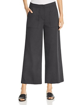 8b301d10257 Eileen Fisher - Organic Cotton Cropped Wide-Leg Pants ...