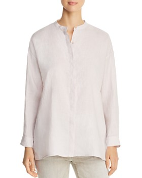 Eileen Fisher Petites - Organic Linen Button Down Top