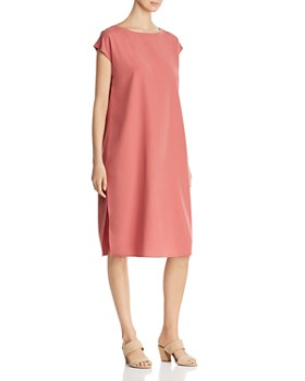 cd6ca50d392b85 Eileen Fisher - Cap-Sleeve Shift Dress ...