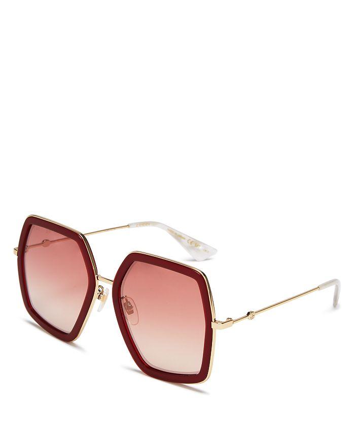 Gucci - Women's Oversized Square Sunglasses, 56mm