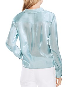 VINCE CAMUTO - Tie-Hem Button-Down Blouse