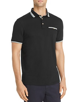 2c45f1a7 Ted Baker - Tramway Regular Fit Polo Shirt with Stripe Knit Collar - 100%  Exclusive ...