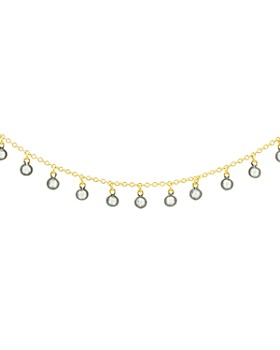 """Freida Rothman - Bezel Charm Necklace in 14K Gold-Plated & Rhodium-Plated Sterling Silver, 14"""""""