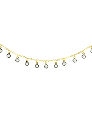 Freida Rothman Bezel Charm Necklace in 14K Gold-Plated & Rhodium-Plated Sterling Silver, 14