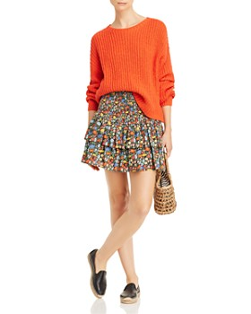 Perseverance London - Poppy Floral Mini Skirt