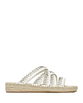 Donald Pliner - Women's Rhonda Metallic Woven Leather Sandals