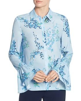 9bead322b70 T Tahari - Floral-Print Bell-Cuff Blouse ...