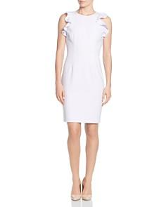 T Tahari - Ruffled Sheath Dress