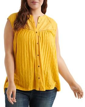 Lucky Brand Plus - Sleeveless Textured-Knit Top