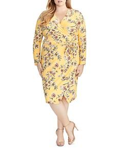 Rachel Roy Plus - Darcie Floral-Print Faux-Wrap Dress