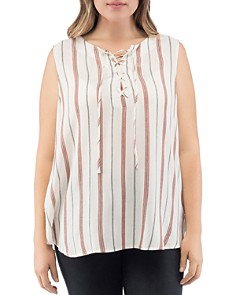 B Collection by Bobeau Curvy - Camille Sleeveless Striped Top