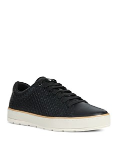 Geox - Men's Ariam Embossed Leather Lace-Up Sneakers