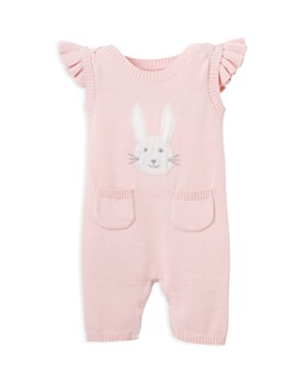 Elegant Baby - Girls' Bunny Sweater Coverall  - Baby