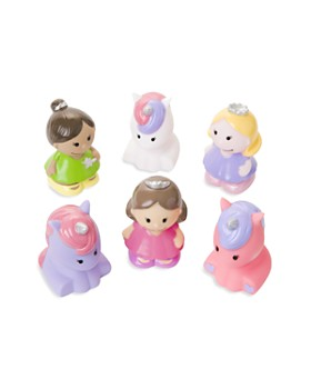 Elegant Baby - Girls' 6-Piece Princess Party Squirters Bath Toys, Baby - Ages 0+