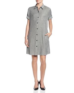 T Tahari Melange Shirt Dress