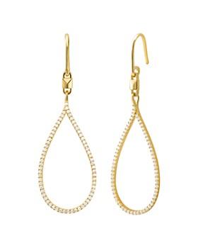 Michael Kors - Mercer Teardrop Earrings in 14K Gold-Plated Sterling Silver, 14K Rose Gold-Plated Sterling Silver or Sterling Silver