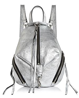 Rebecca Minkoff Julian Mini Metallic Convertible Backpack