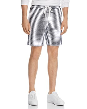 Velvet by Graham & Spencer - Audien Striped Regular Fit Terry Shorts - 100% Exclusive