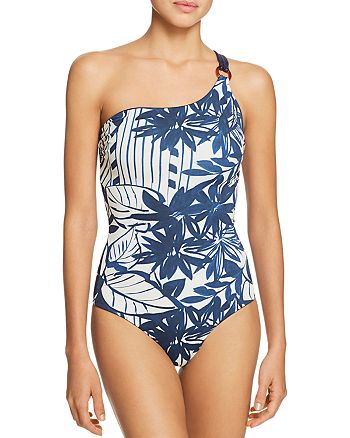 Max Mara - Pecos Ring One-Shoulder Reversible One Piece Swimsuit