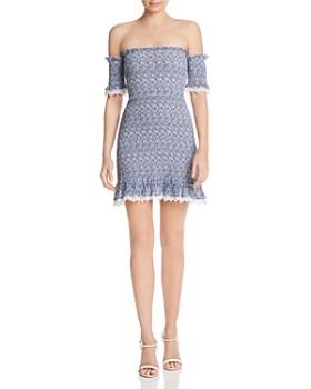 Nightcap - Flirtini Smocked Mini Dress