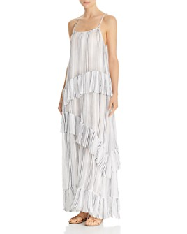 ATM Anthony Thomas Melillo - Striped Cotton-Gauze Maxi Slip Dress