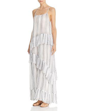 ATM Anthony Thomas Melillo - Striped Cotton-Gauze Maxi Slip Dress