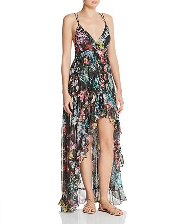 Rococo Sand - High/Low Floral Maxi Dress