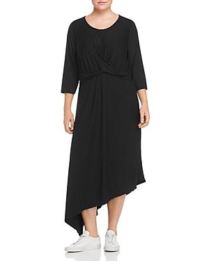 B Collection by Bobeau Curvy Clara Asymmetric Twist Front Dress