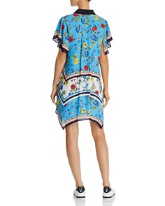 Alice and Olivia - Conner Floral Scarf-Print Shirt Dress