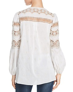 Elie Tahari - Leigha Crochet-Trim Cotton Blouse
