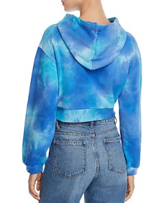 M.N.I. - Tie-Dye Cropped Hooded Sweatshirt