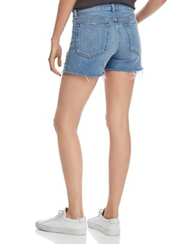rag & bone/JEAN - Dre Cutoff Denim Shorts in Bishop With Holes