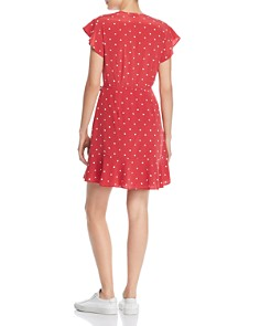 Rails - Leanne Polka Dot Silk Wrap Dress