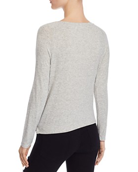 Generation Love - Claire Button Detail Rib-Knit Top