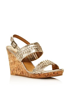 Jack Rogers - Women's Tinsley Woven Leather Wedge Sandals