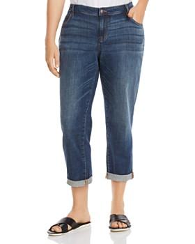 ac11b4743c7 Eileen Fisher Plus - Cropped Boyfriend Jeans in Aged Indigo ...