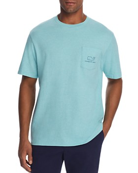 927864809 Vineyard Vines - Heathered Whale Logo-Print Pocket Tee ...